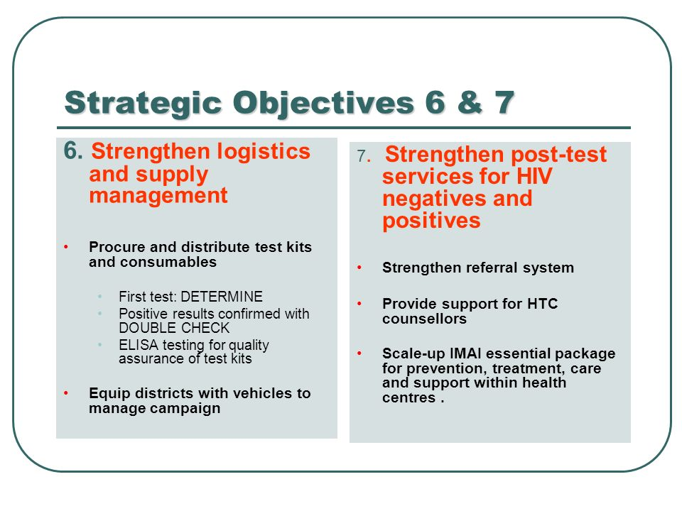 Strategic Objectives 6 & 7 6.