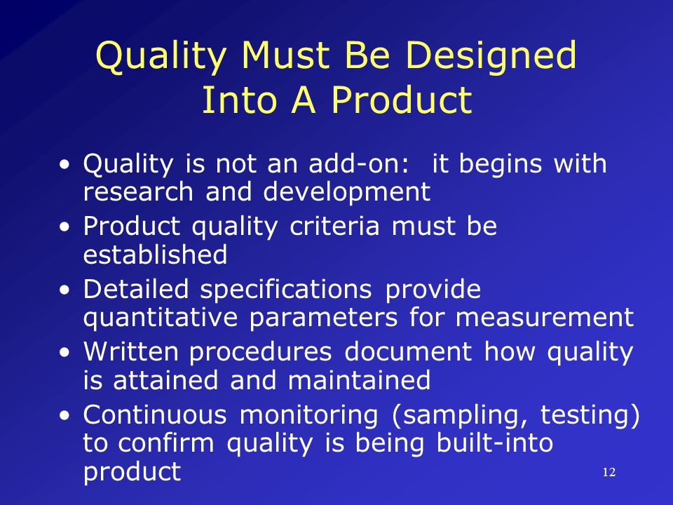 13 Quality Assurance: Essential At All Stages