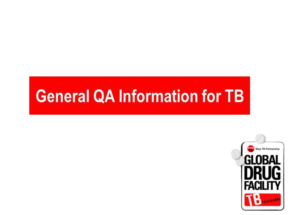 General QA Information for TB