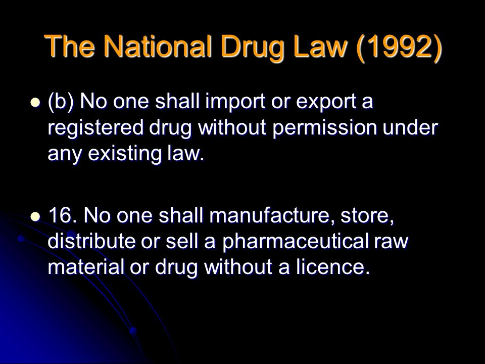 (b) No one shall import or export a registered drug without permission under any existing law. (b) No one shall import or export a registered drug wit