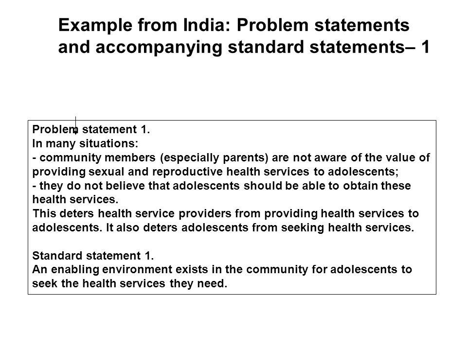Problem statement 1.