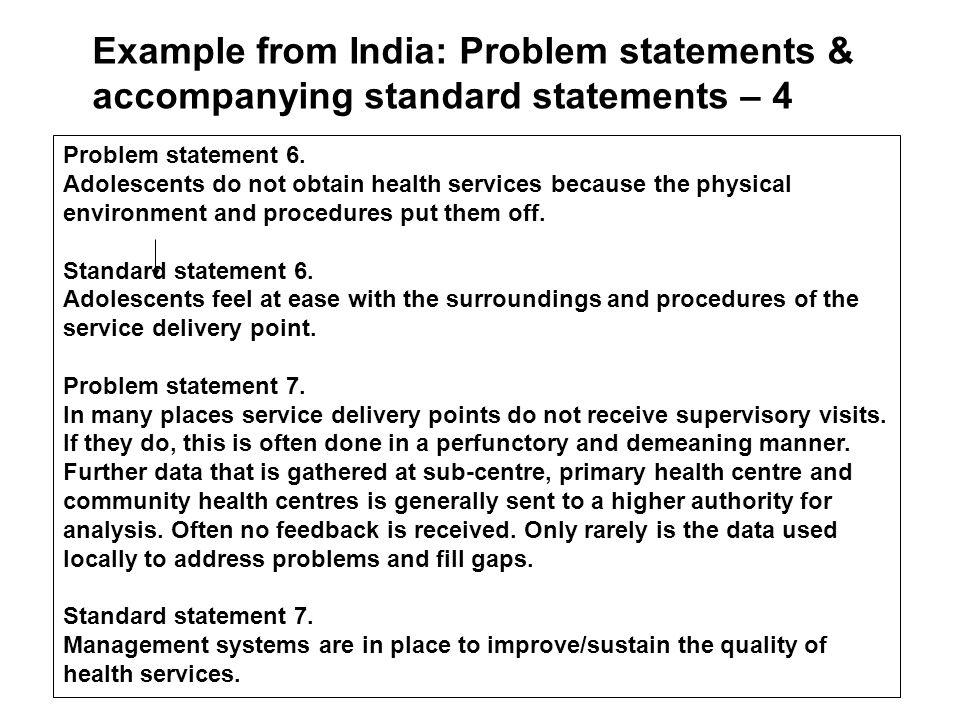 Problem statement 6.