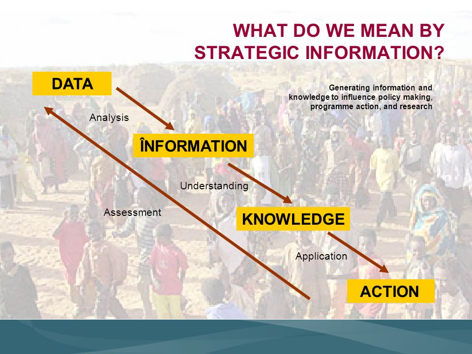 WHAT DO WE MEAN BY STRATEGIC INFORMATION.