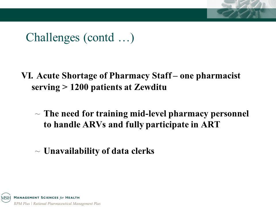 Challenges (contd …) VI.