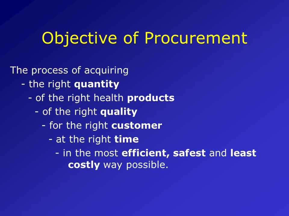 Outline of the Module 1.INTRODUCTION: Procurement as part of the procurement cycle 2.Commodities that support HIV/AIDS programmes 3.Procurement method