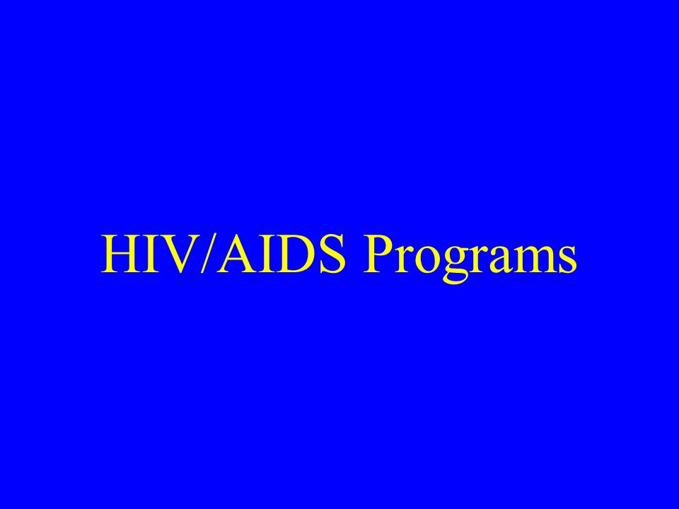HIV/AIDS Programs