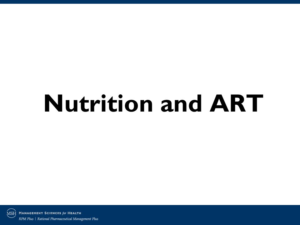 Nutrition and ART