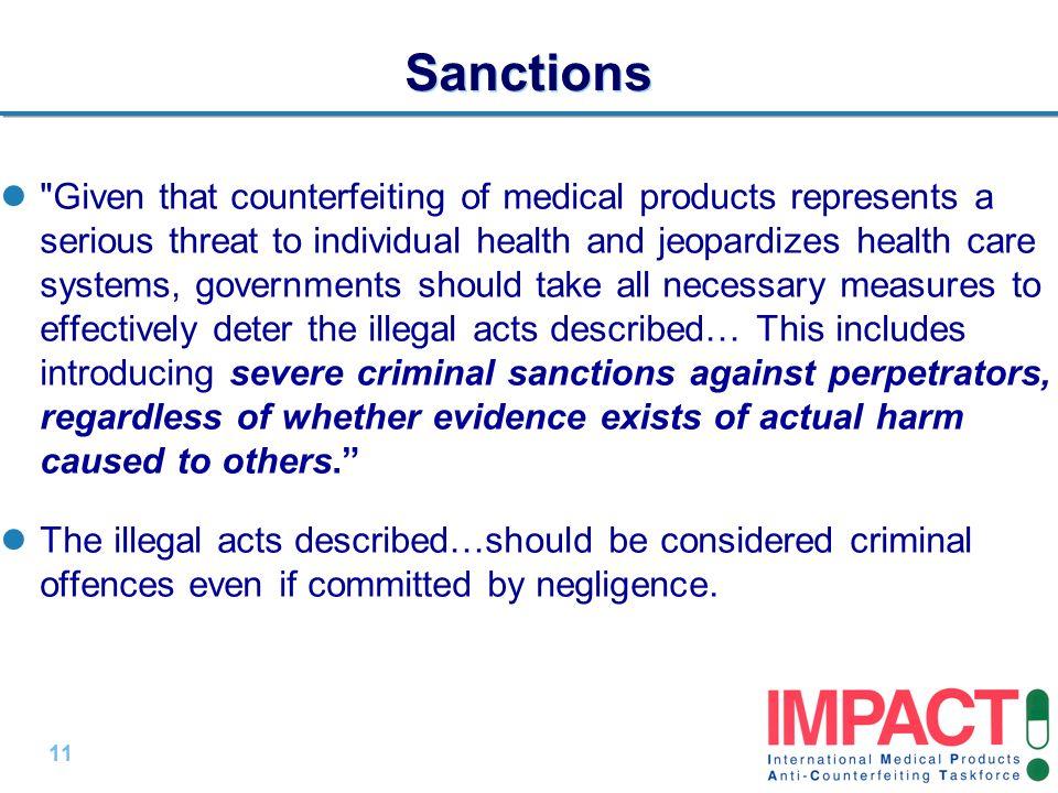 11 | Sanctions