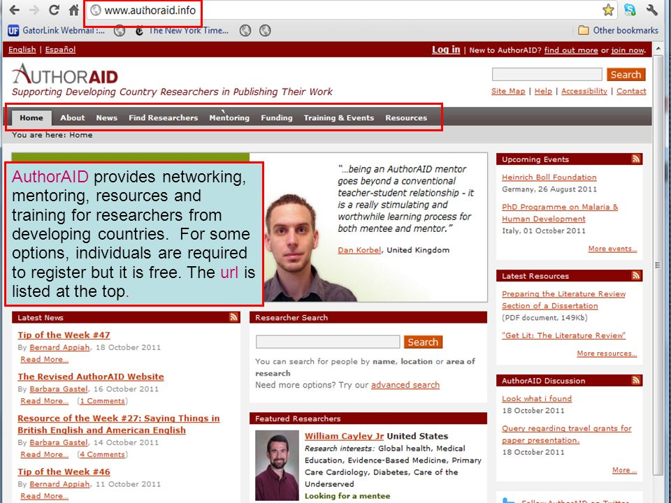 AuthorAID provides networking, mentoring, resources and training for researchers from developing countries. For some options, individuals are required