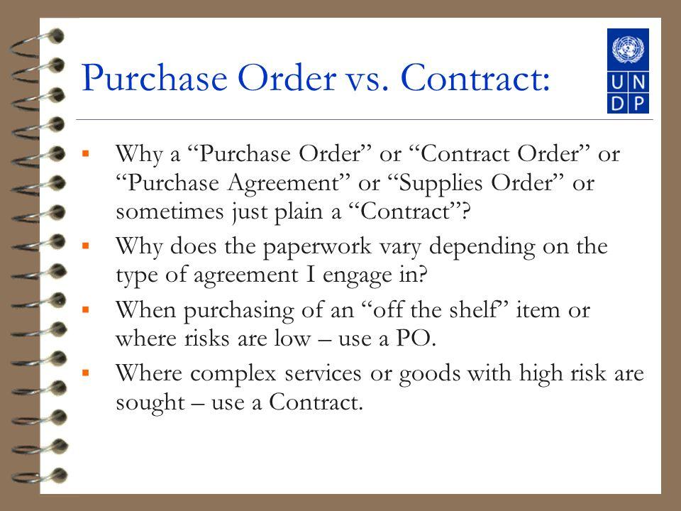 Purchase Order vs.