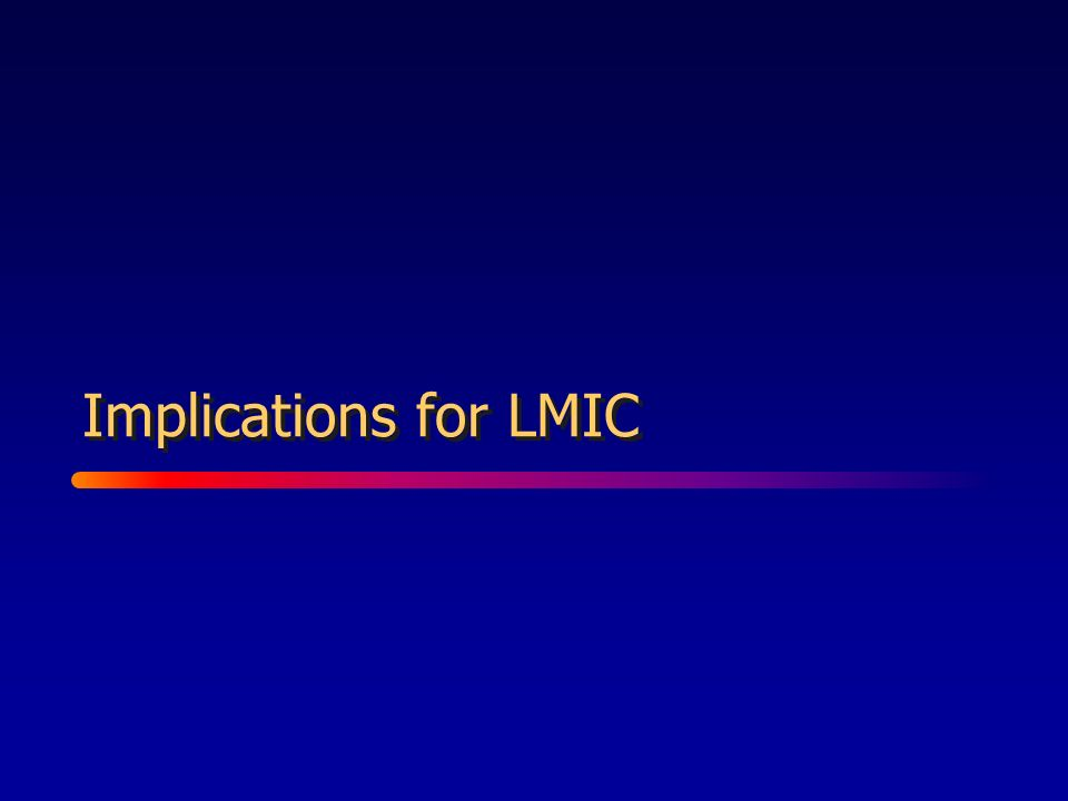 Implications for LMIC