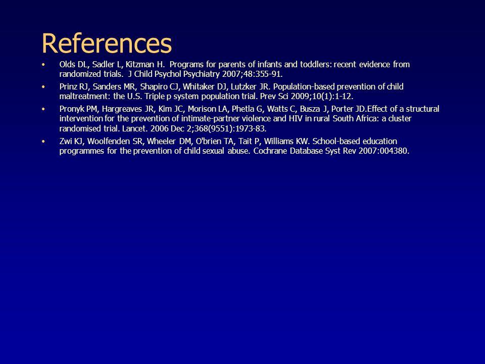 References Olds DL, Sadler L, Kitzman H.