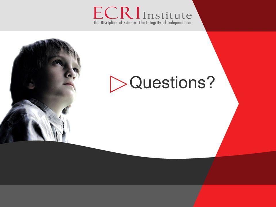 23 ©2009 ECRI Institute Questions?