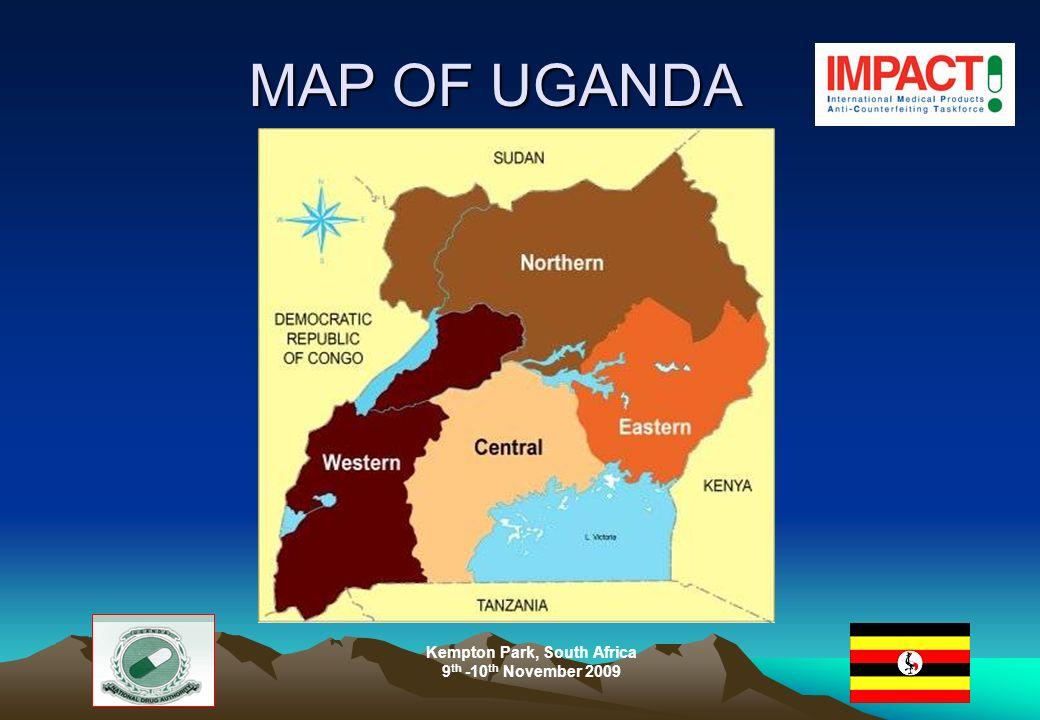 MAP OF UGANDA MAP OF UGANDA Kempton Park, South Africa 9 th -10 th November 2009