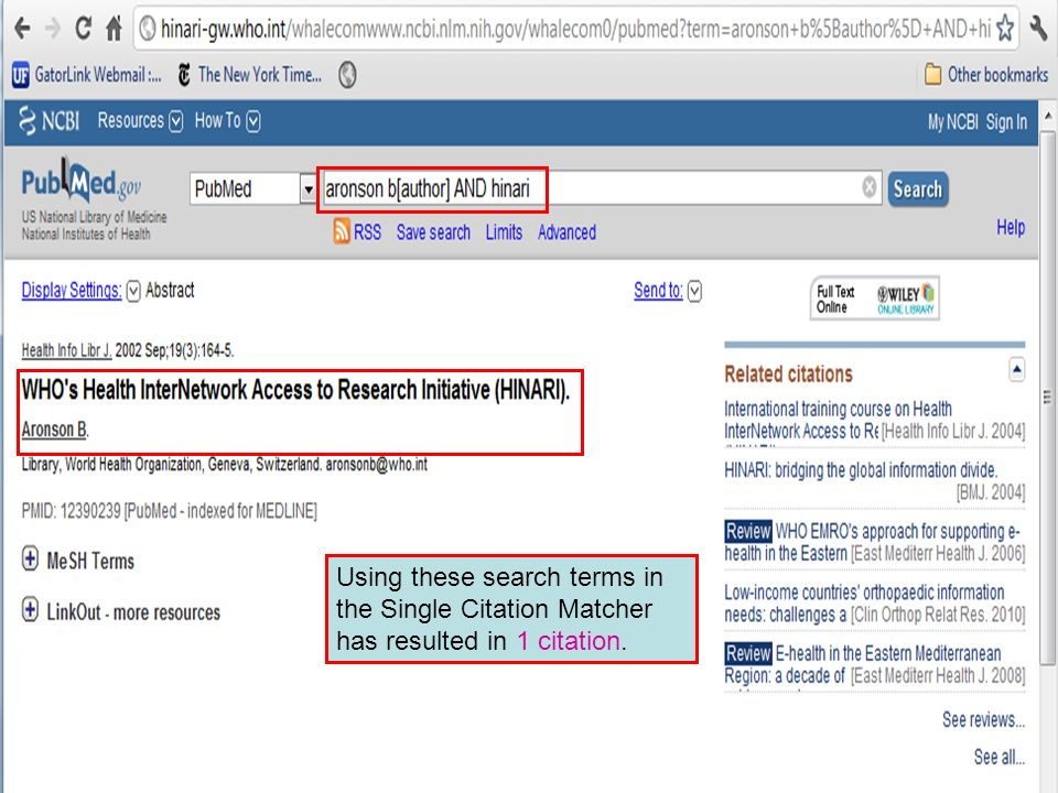 Using these search terms in the Single Citation Matcher has resulted in 1 citation.