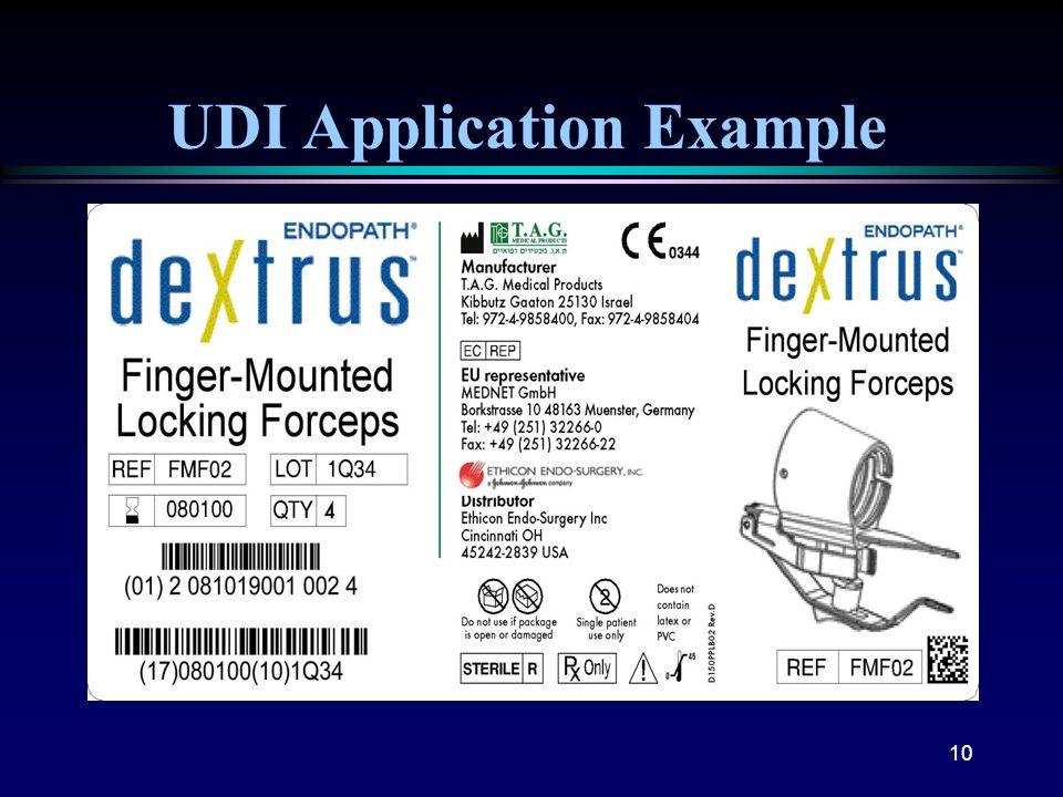 10 UDI Application Example