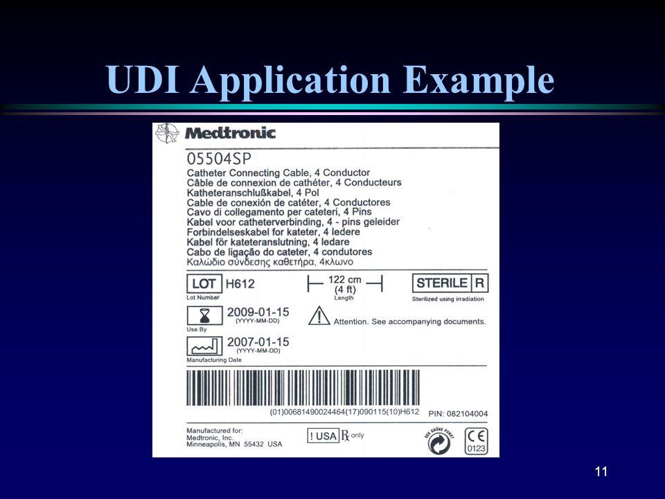11 UDI Application Example