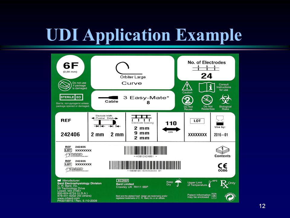 12 UDI Application Example