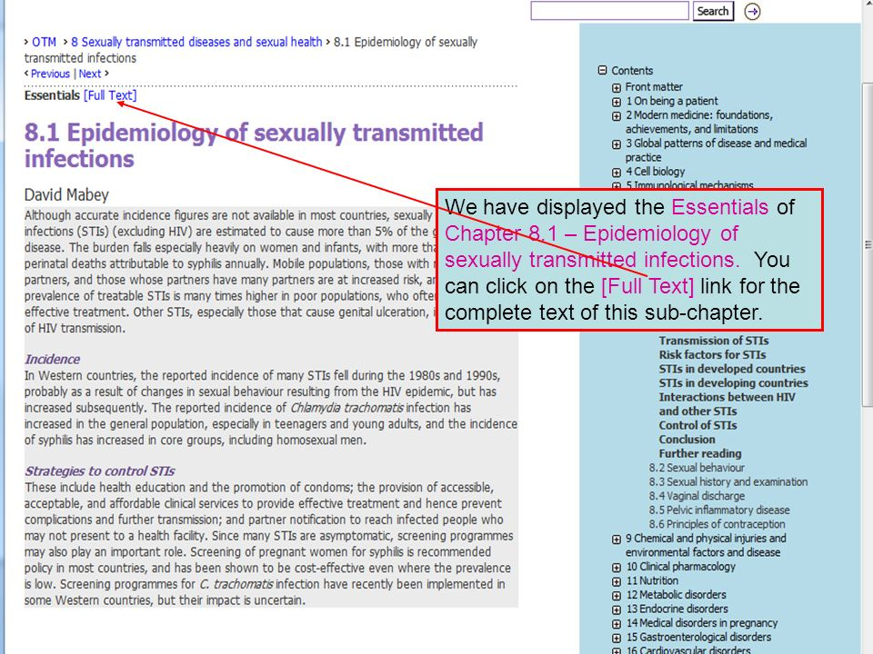We have displayed the Essentials of Chapter 8.1 – Epidemiology of sexually transmitted infections.