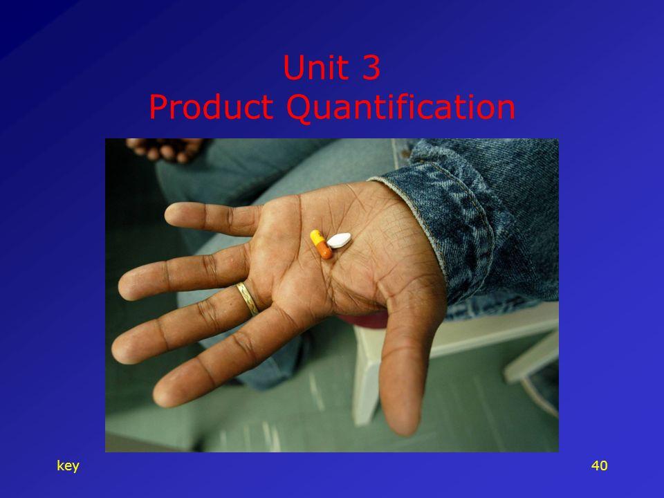 key40 Unit 3 Product Quantification