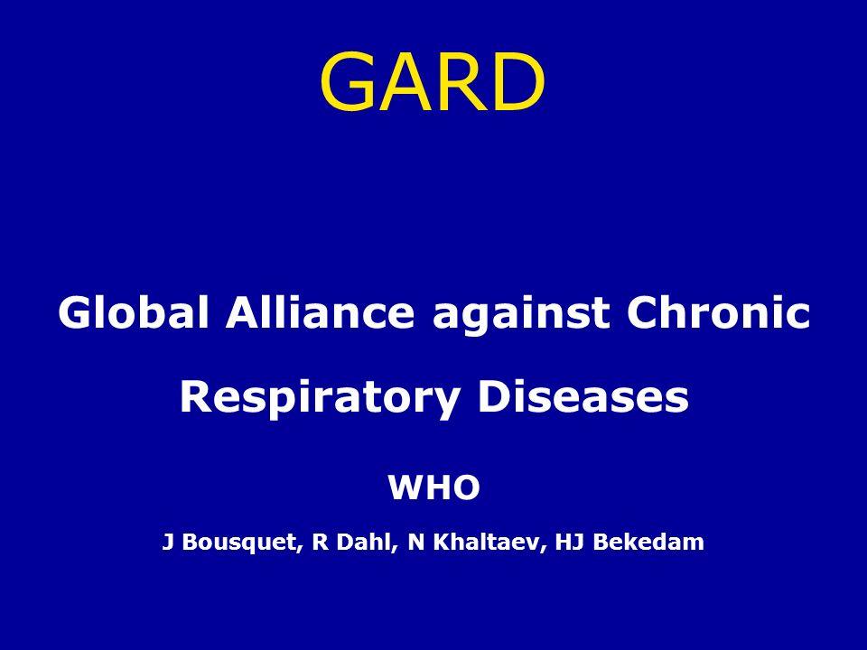 GARD Global Alliance against Chronic Respiratory Diseases WHO J Bousquet, R Dahl, N Khaltaev, HJ Bekedam