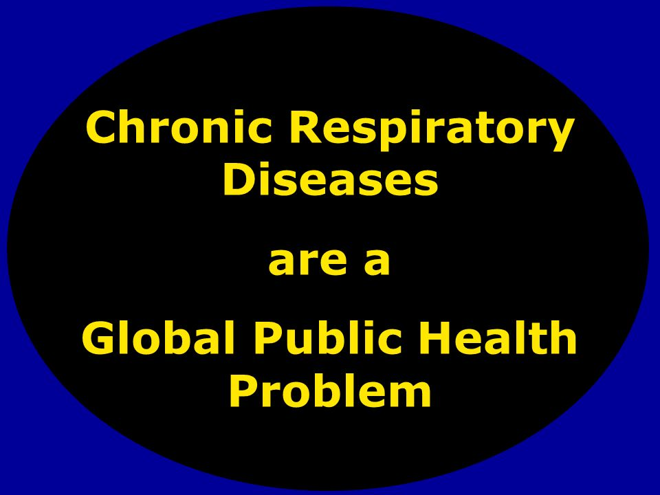 Chronic Respiratory Diseases are a Global Public Health Problem