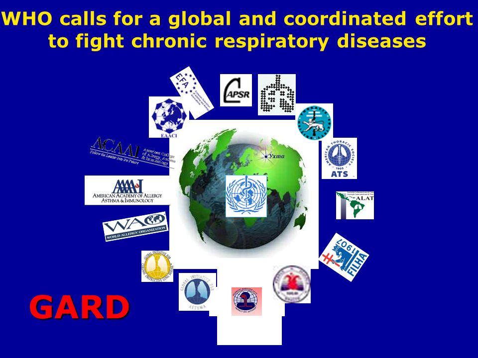 WHO calls for a global and coordinated effort to fight chronic respiratory diseases GARD