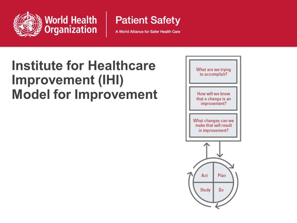 Institute for Healthcare Improvement (IHI) Model for Improvement
