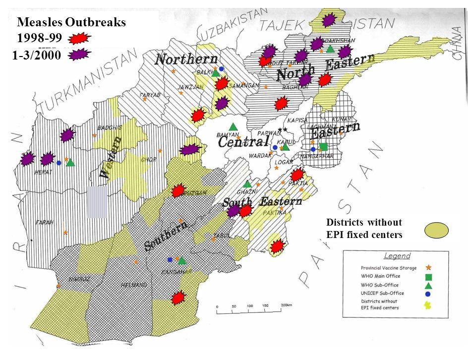 Afghanistan: Geo-political conditions conducive to Epidemics Badakhshan Takhar Kunduz Baghlan Jauzjan Samangan Balkh Ghor Sar-e- Pol Faryab Badghis He