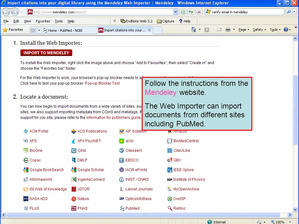 Follow the instructions from the Mendeley website.