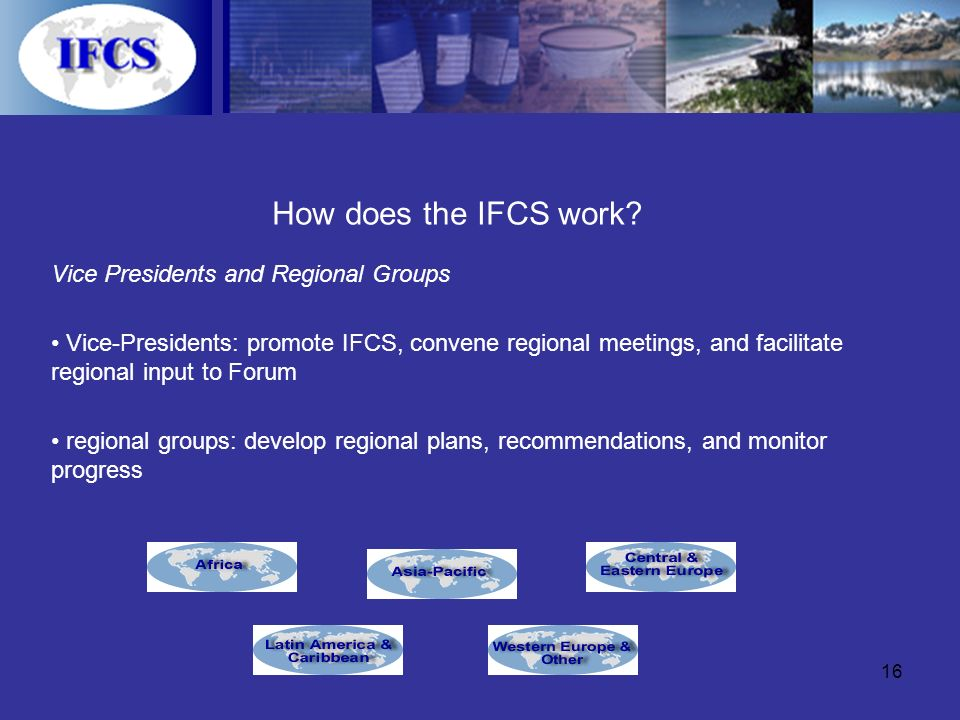16 How does the IFCS work.