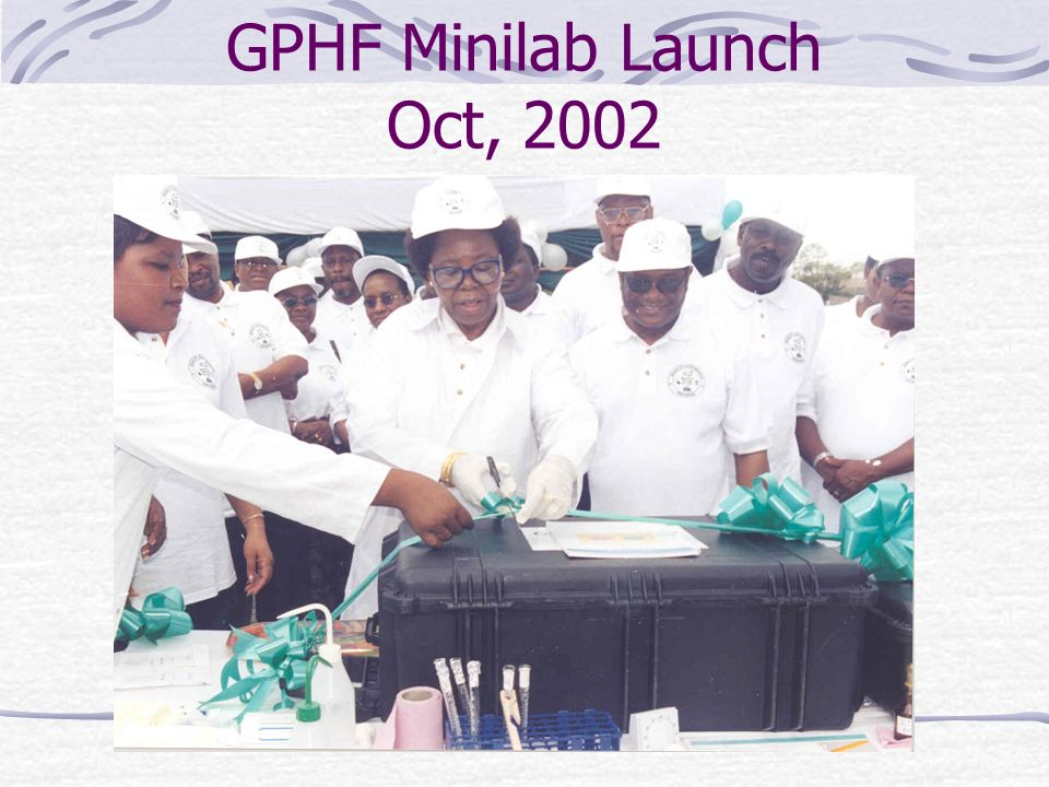 GPHF Minilab Launch Oct, 2002