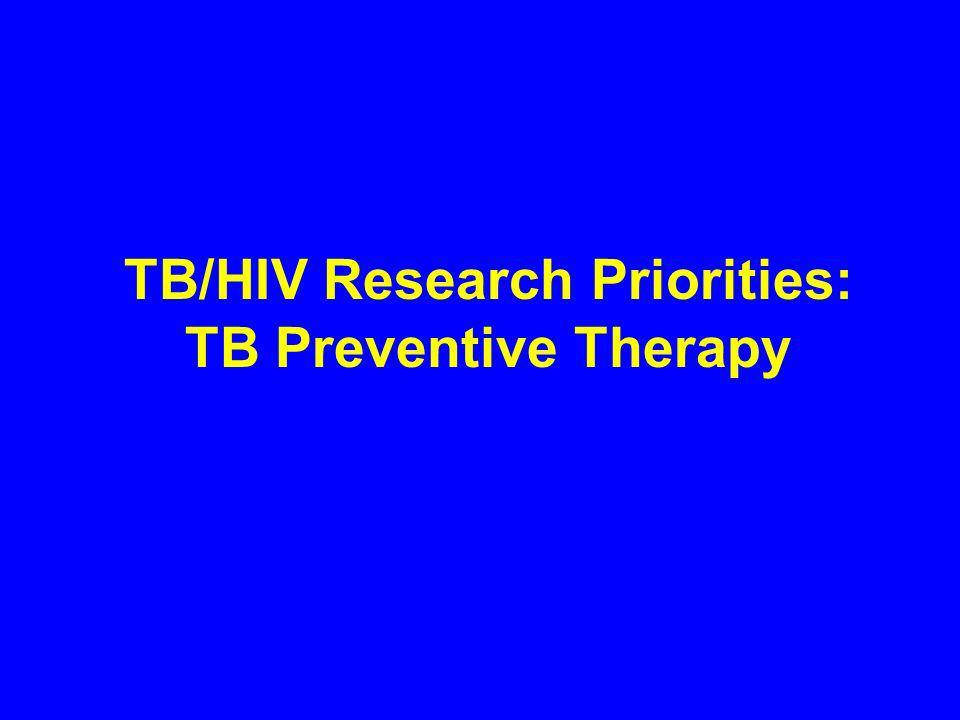 TB/HIV Research Priorities: TB Preventive Therapy
