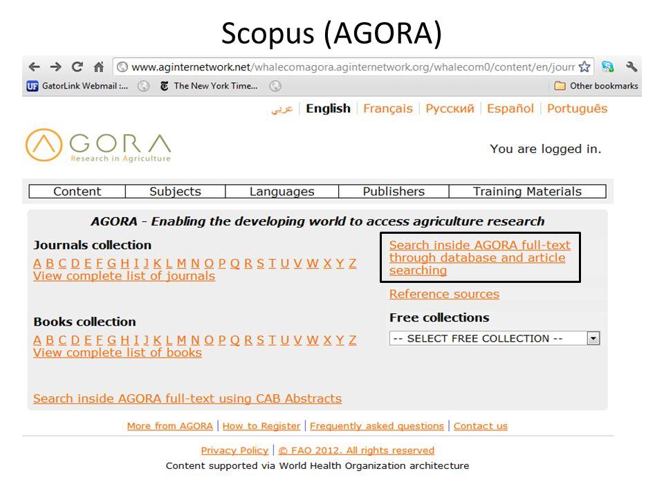 Scopus (AGORA)