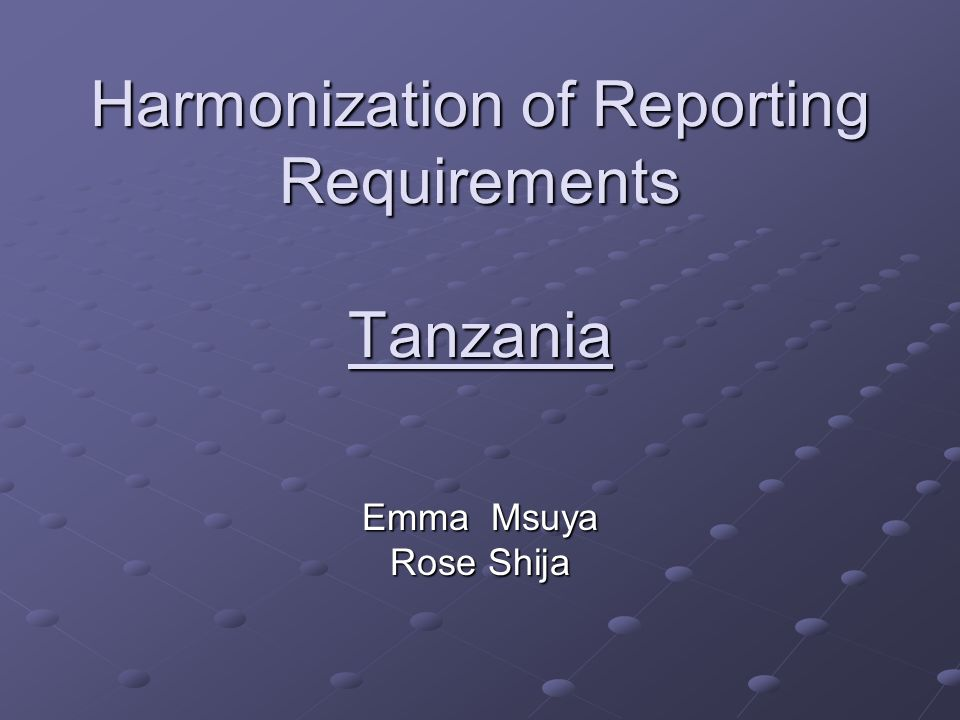Background Tanzania has population of 35mill people (2004 census) HIV Prevalence is 7% Most of the people are living in rural areas(85%) Has 22 regions,121 districts Ratio doctor: patient is 1:23,000 Ratio nurse: patient 1:6000 Ratio pharmacist: patient 1:50,000