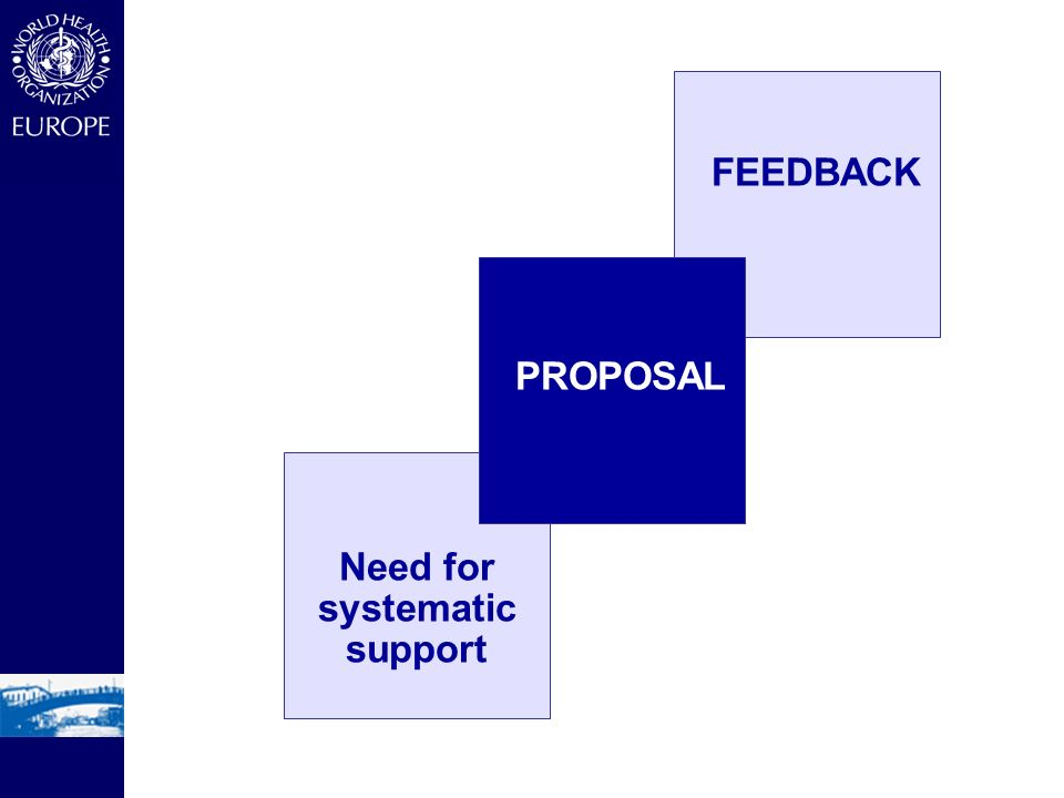 PROPOSAL FEEDBACK Need for systematic support