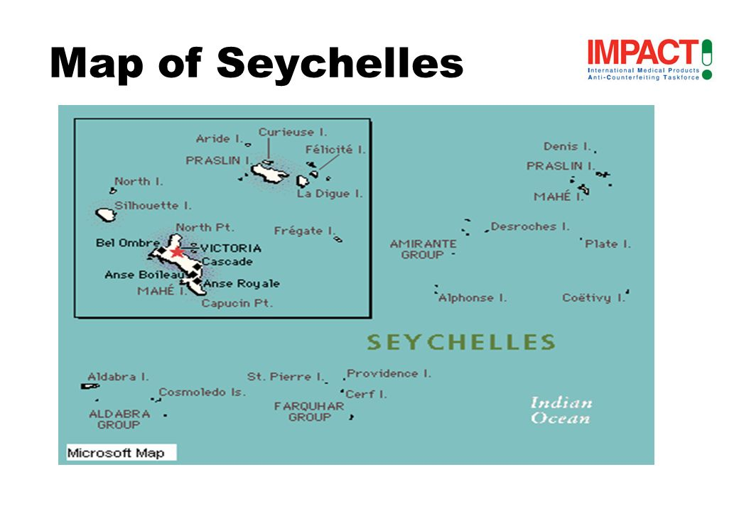 Introduction Seychelles consists of about 115 islands situated in the western Indian oceanSeychelles consists of about 115 islands situated in the western Indian ocean The major islands of Seychelles are located 1000 miles (1600 km) east of KenyaThe major islands of Seychelles are located 1000 miles (1600 km) east of Kenya The main islands are Mahe, Praslin and La Digue.