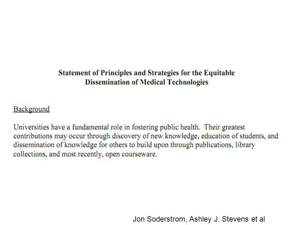 Jon Soderstrom, Ashley J. Stevens et al