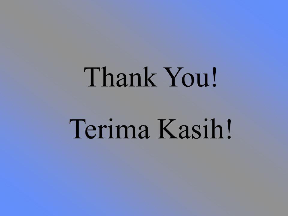 Thank You! Terima Kasih!