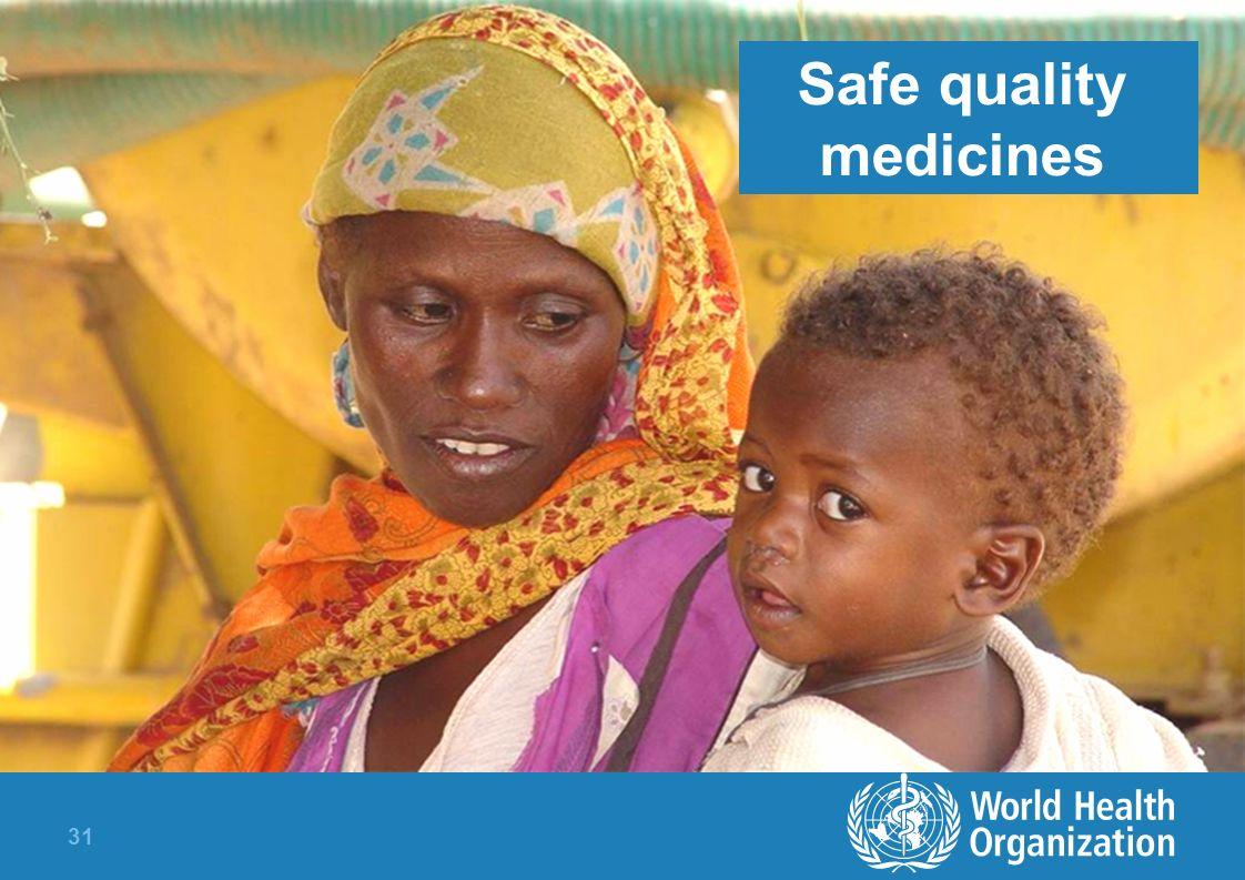 31 Safe quality medicines
