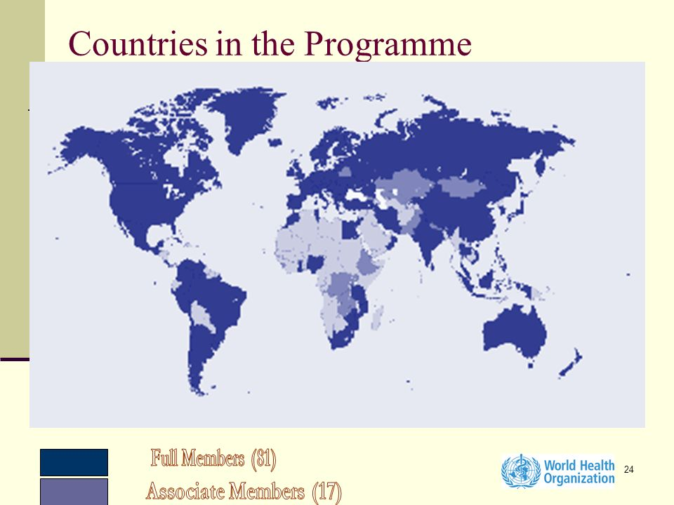 24 Countries in the Programme
