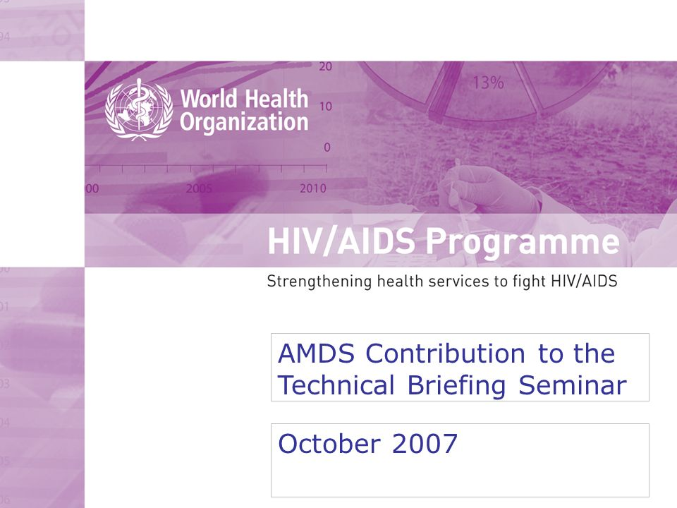 AMDS Secretariat within the New Organizational Structure - HIV/AIDS DEPARTMENT Communications Resource Mobilization PMU Policy and UN coordination