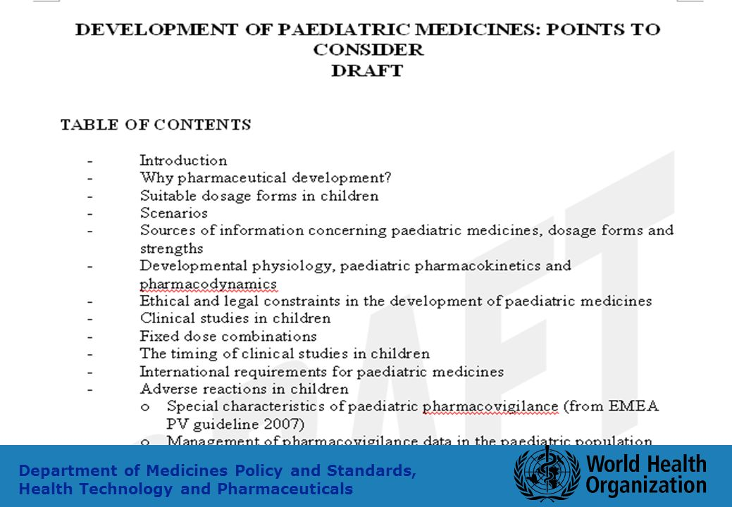 32 Department of Medicines Policy and Standards, Health Technology and Pharmaceuticals