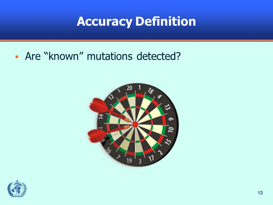 13 Accuracy Definition Are known mutations detected