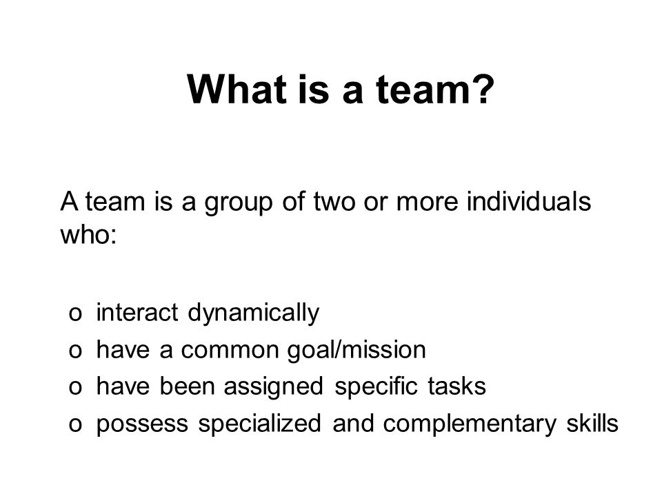 Barriers to teamwork o changing roles o medical hierarchies o individualistic nature of medicine o instability nature of teams