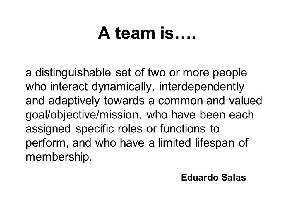 What types of teams do you find in health care.