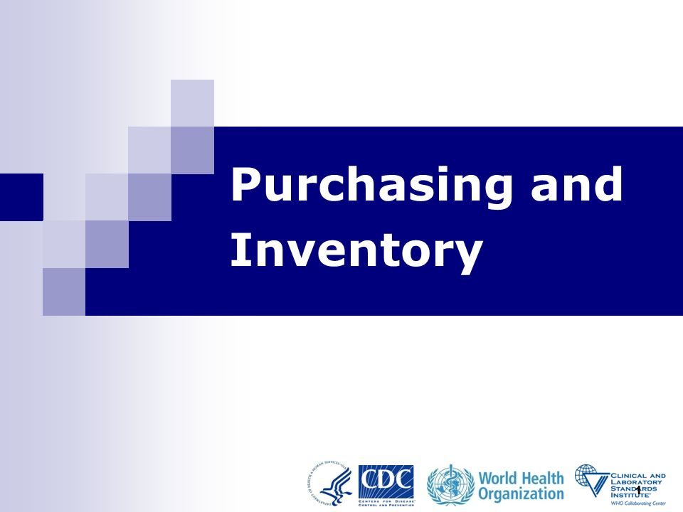 1 Purchasing and Inventory