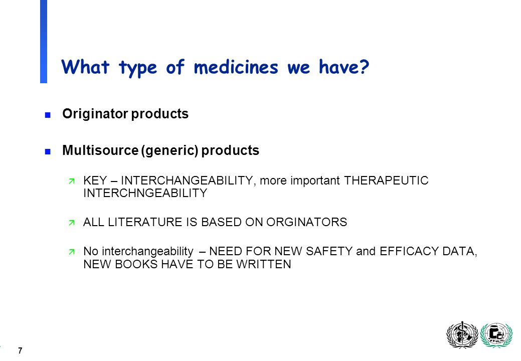 7 What type of medicines we have.