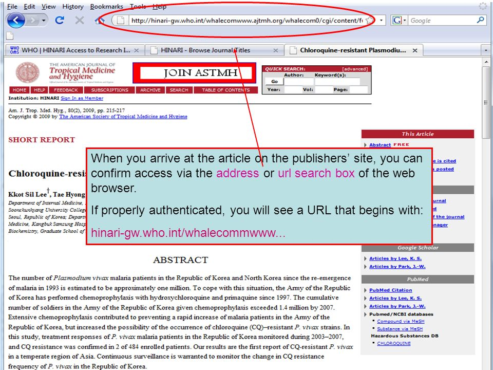 Linking to full text 6 You will see options to access the Full Text article - generally HTML or PDF formats.
