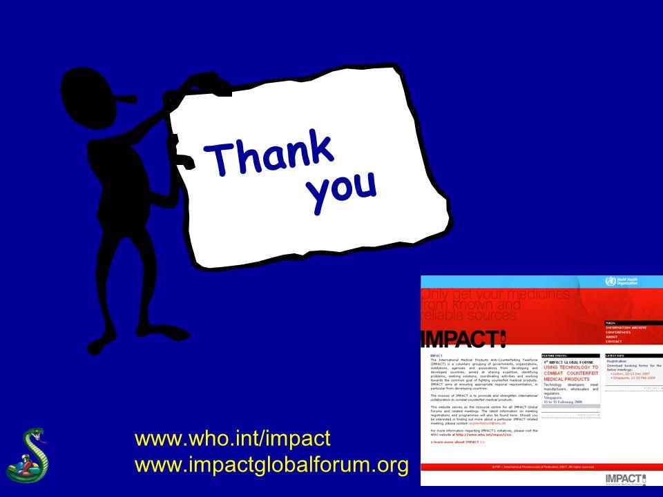 Thank you www.who.int/impact www.impactglobalforum.org